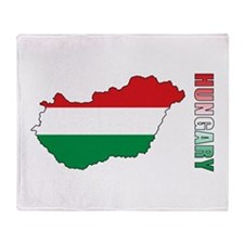 Map Of Hungary Throw Blanket