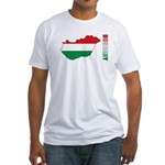 Map Of Hungary Fitted T-Shirt