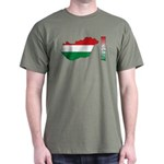 Map Of Hungary Dark T-Shirt