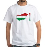 Map Of Hungary White T-Shirt