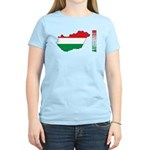 Map Of Hungary Women's Light T-Shirt