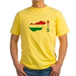 Map Of Hungary Yellow T-Shirt