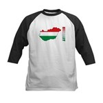 Map Of Hungary Kids Baseball Jersey