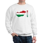 Map Of Hungary Sweatshirt