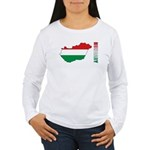 Map Of Hungary Women's Long Sleeve T-Shirt