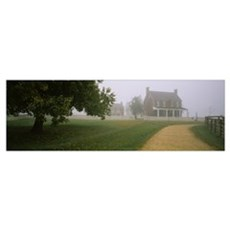 House in a park, Appomattox Court House National H Poster