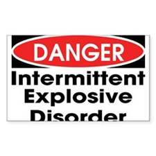 Danger IED Rectangle Decal