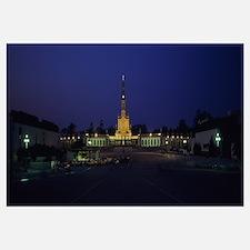 Church lit up at night, Our Lady Of Fatima, Fatima