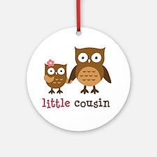 Little Cousin - Mod Owl Ornament (Round)