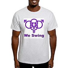 """Swinger Symbol-""""We Swing"""" T-Shirt"""