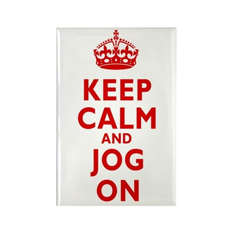 Keep Calm and Jog On Rectangle Magnet