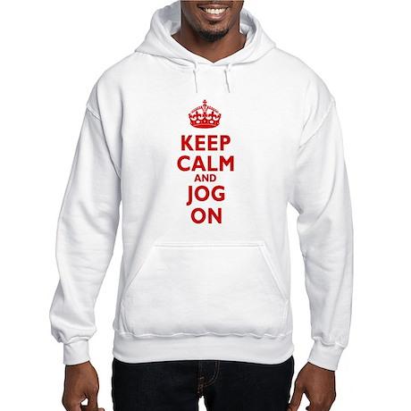 Keep Calm and Jog On Hooded Sweatshirt