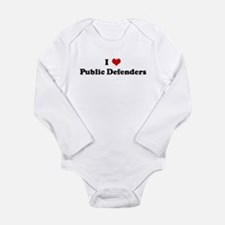 Cute I heart public policy Long Sleeve Infant Bodysuit