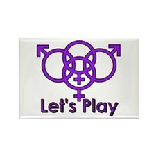 "Swinger Symbol ""Let's Play"" Rectangle Ma"