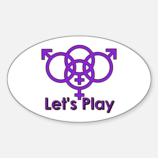 """Swinger Symbol """"Let's Play"""" Decal"""
