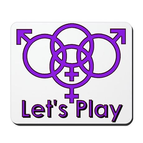 "Swinger Symbol ""Let's Play"" Mousepad"