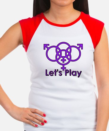 "Swinger Symbol ""Let's Play"" Women's Cap Sleeve T-S"