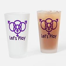 "Swinger Symbol ""Let's Play"" Drinking Glass"