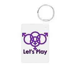 "Swinger Symbol ""Let's Play"" Keychains"