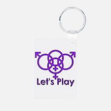 "Swinger Symbol ""Let's Play"" Keychains"