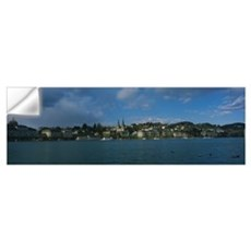 Buildings at the waterfront, Lake Lucerne, Lucerne Wall Decal