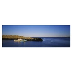 Boats at the coast, Cape Ann, Pigeon Cove, Maine Poster