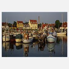 Boats docked at the marina, Kierkgaard, Sjaelland,