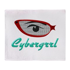 Cybergrrl Throw Blanket