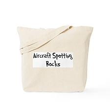 Aircraft Spotting Rocks Tote Bag