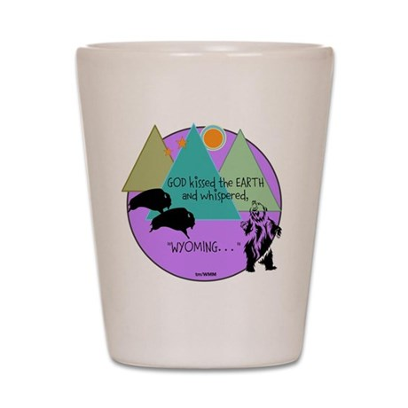 WMM WY KISS #8 Shot Glass