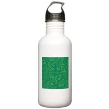 Green Circuit Board Water Bottle