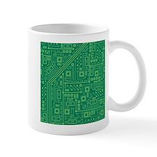 Green Circuit Board Mug
