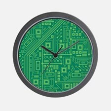Green Circuit Board Wall Clock