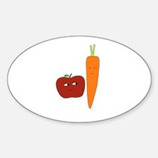 Apple-Carrot Duo Decal