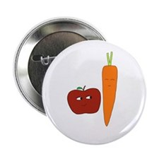 "Apple-Carrot Duo 2.25"" Button"