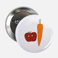 """Apple-Carrot Duo 2.25"""" Button"""