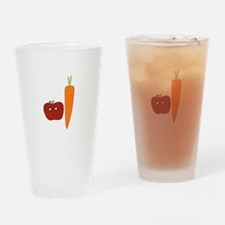 Apple-Carrot Duo Drinking Glass