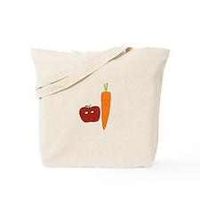 Apple-Carrot Duo Tote Bag