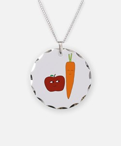 Apple-Carrot Duo Necklace