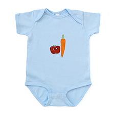 Apple-Carrot Duo Infant Bodysuit