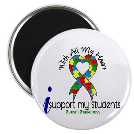 """With All My Heart Autism 2.25"""" Magnet (100 pack)"""