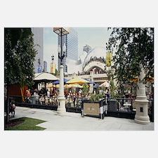 Sidewalk cafe in a park, Millennium Park, Chicago,