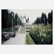Steps in a park, Millennium Park, Chicago, Illinoi