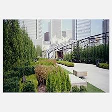 Garden in front of buildings, Millennium Park, Chi