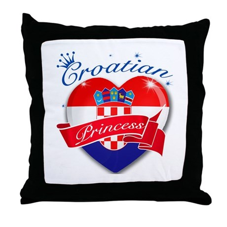 Croatian Princess Throw Pillow