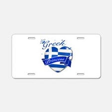 Greek Princess Aluminum License Plate