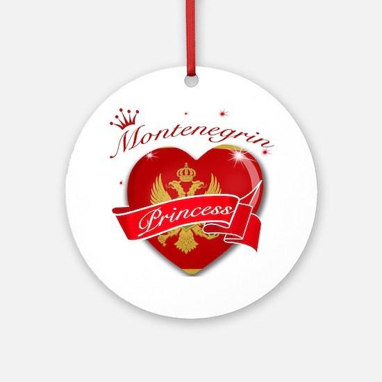 Montenegrin Princess Ornament (Round)