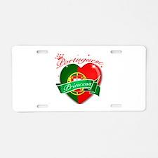 Portuguese Princess Aluminum License Plate