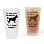 Boxer Mommy Drinking Glass