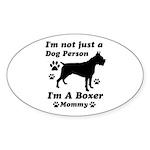 Boxer Mommy Sticker (Oval 10 pk)
